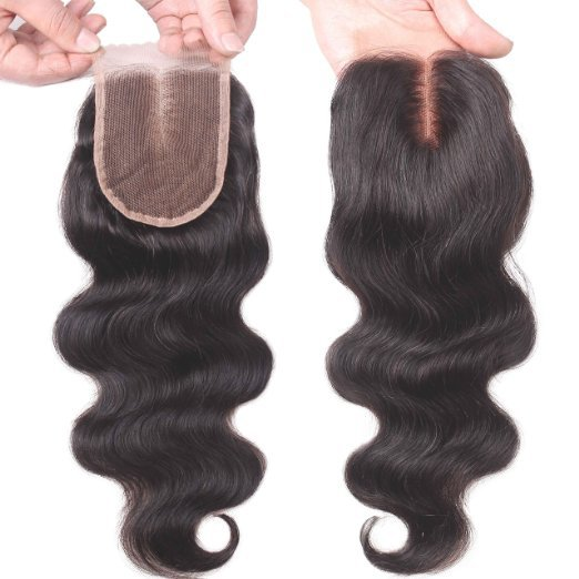 """Unprocessed Brazilian Human Hair Body Wave Top Closure Lace Bleached Knots with Baby Hair 18"""""""