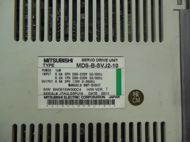 MITSUBISHI SERVO DRIVE MDS-B-SVJ2-10 FREE EXPEDITED SHIPPING MDSBSVJ210 USED
