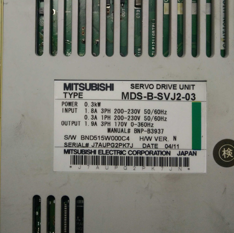 MITSUBISHI SERVO DRIVE MDS-B-SVJ2-03 FREE EXPEDITED SHIPPING MDSBSVJ203 USED