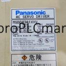 PANASONIC SERVO DRIVE MSD043A1XXV FREE EXPEDITED SHIPPING USED