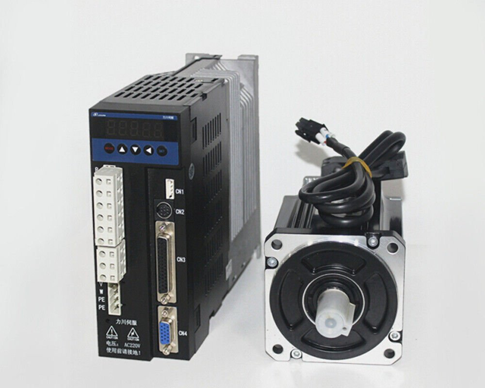single phase 220V 400w 0.4KW 1.27N.m 3000rpm 60mm AC servo motor drive kit