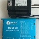 NEMA34 4Nm 2phase closed loop easy servo motor drive kit HBS86H+86HSM45-E1