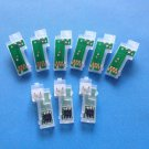 Permanent Chip / Auto Reset Chip for Epson Pro 3880 3850 Printer; 9pcs/set