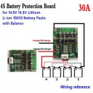 4S 30A 14.8V Li-ion Lithium 18650 Battery BMS Packs PCB Protection Board