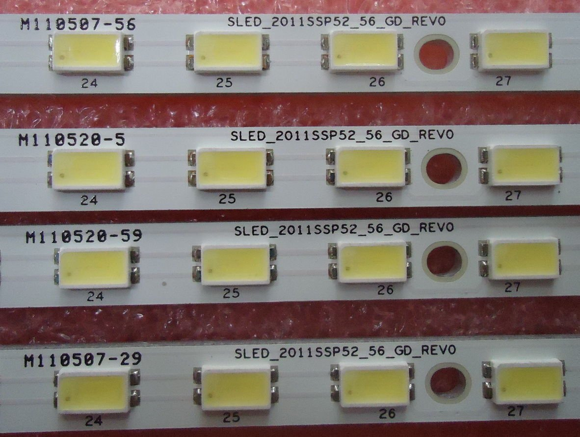 2 Pieces/lot 591mm E129741 LED TV Backlight SLED_2011SSP52_56_GD_REV0