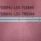 A Pair ! L500H1-4EB LED Backlight V500H1-LS5-TLEM4 V500H1-LS5-TREM4 28LED 315mm
