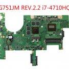 For ASUS G751JM REV.2.2 Motherboard i7-4710HQ CPU GTX860M HM87 fit G751JT G751JY