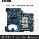 LA-6753P REV 1.0 System Board for Lenovo G570 HM65 Chipset Laptop Motherboard -c