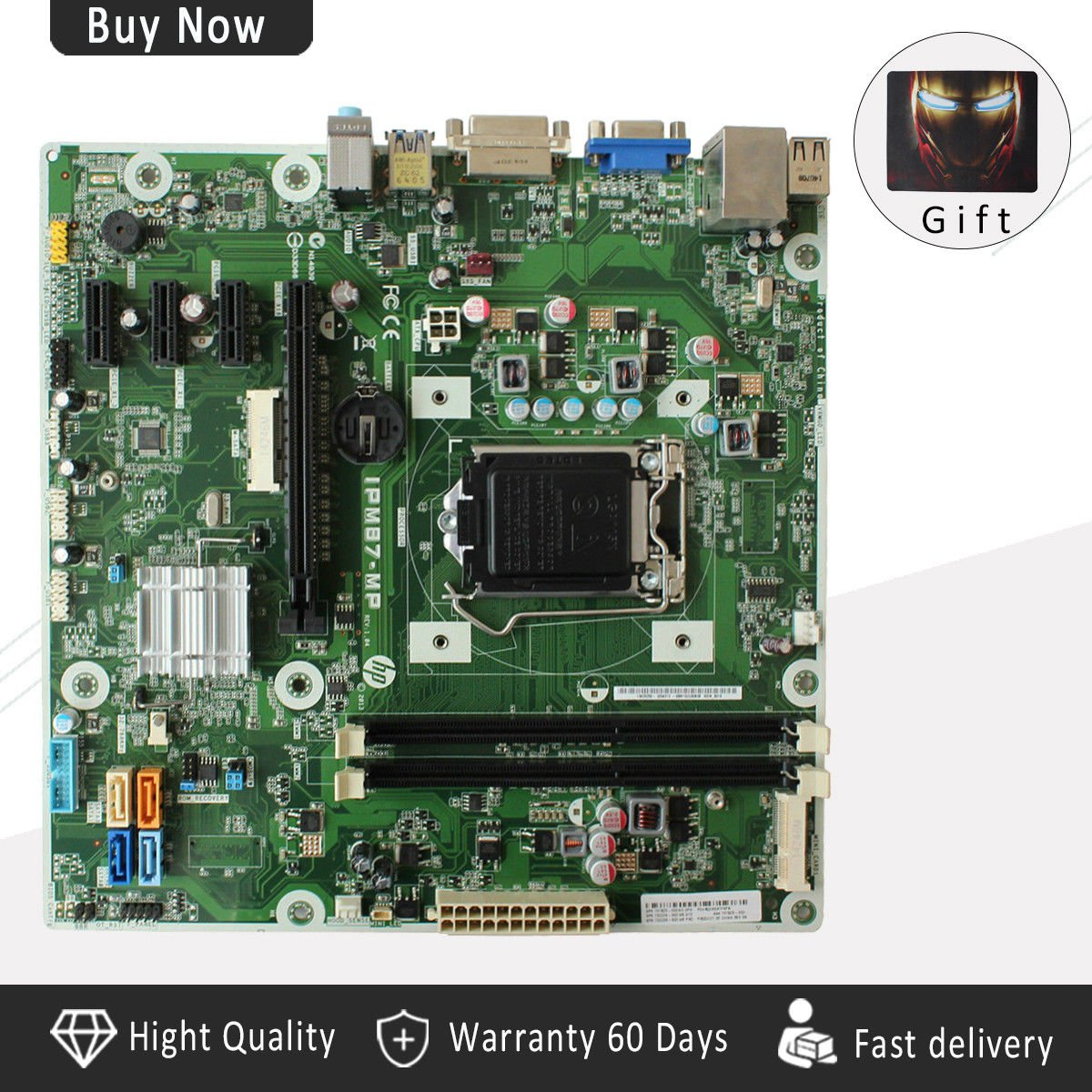 HP MEMPHIS-S IPM87-MP REV:1.04 Motherboard 707825-003 732239-503 Gift a Mouse-c