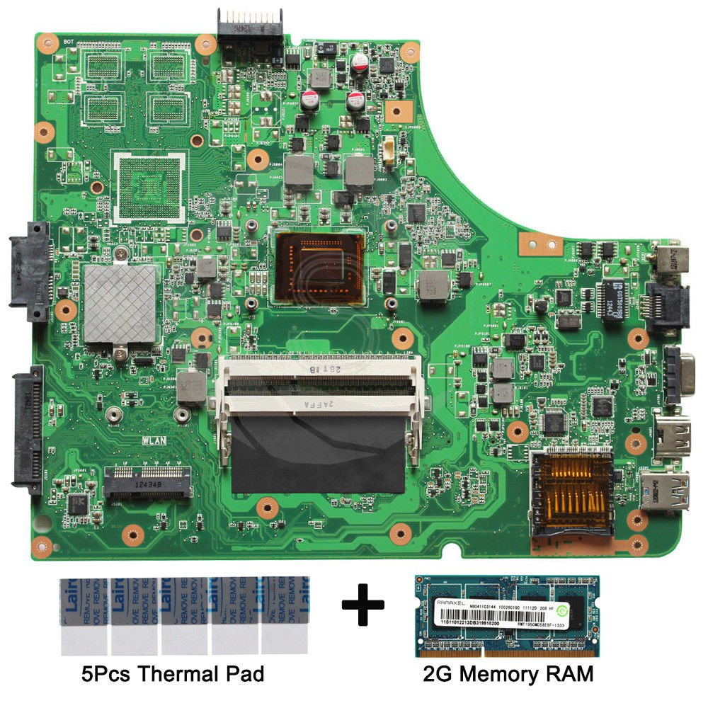 Asus K53SD REV.6.0 Motherboard i3-2310M with thermal Pad and 2GB DDR3 memory RAM