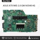 ASUS X751MD X751MA K751MA REV2.0 Laptop Motherboard N3540U CPU 4GB RAM DDR3-c