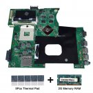 For Asus K42JC rev.2.0 Motherboard with thermal Pad and 2GB DDR3 memory RAM
