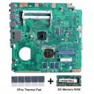 For Asus Eeebox EB1503 motherboard D2550 Cpu with thermal Pad and 2GB DDR3 RAM