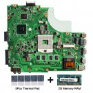 For Asus K43L REV.4.1 motherboard HM65 with thermal Pad and 2GB DDR3 memory RAM