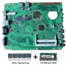 For Asus EB1021 REV.1.02G motherboard AMD C-60 with thermal Pad and 2GB DDR3 RAM
