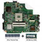 For Asus K43SV REV 4.1 Motherboard HM65 with thermal Pad and 2GB DDR3 memory RAM