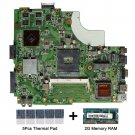 For Asus K43LY REV.2.0 motherboard HM65 with thermal Pad and 2GB DDR3 memory RAM