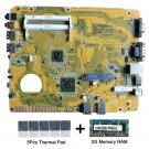 For Asus  EB1021 rev.1.02G C-60 CPU Motherboard with thermal Pad and 2GB DDR3RAM