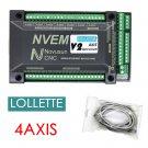 NVEM 4-Axis CNC Controller 200KHZ Ethernet MACH3 Board Motion Control Card