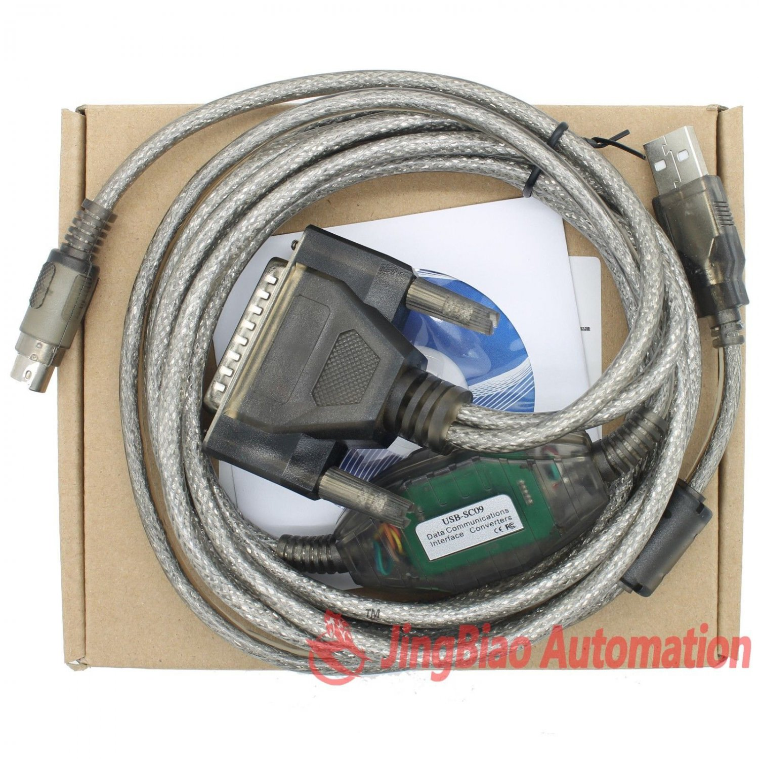 USB-SC09 Programming Cable for Mitsubishi MELSEC FX & A series PLC Support WIN7