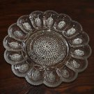Vintage clear glass Hobnail 15 slot egg plate. Indiana Glass?