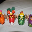McDonald's Fraggle Rock Happy Meal toys. Complete set of 4 vehicles