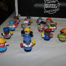 Fisher Price 14 current Little People. Pirate, wizard, workers, DC super hero..