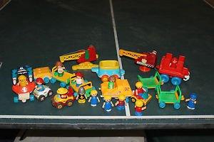 Lot 15 Vintage Playskool little people & vehicles. Space. knight, girls, boys.