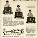 Vintage Revelation expanding suitcase 1920s HTF No smell. Wedding, prop, display