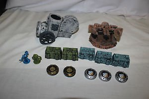 Battleground Crossbows & Catapult 14 replacement pieces. 5 disks catapult, walls