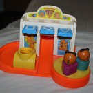 Vintage 413 Fisher Price shapes and slides playground with 2 bears