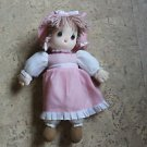 2008 Precious Moments styrofoam head doll. Pink dress. Machine washable