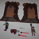 2 Playmobil Barbarian Take Along Forts. Some accessories.