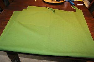 "Vintage Avocado Green Fortrel fabric, material. Remnant 82"" x 60"