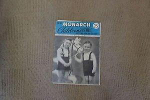 Vintage knitting pattern book Monarch children. 1946. 50+ patterns, mitts, sox..