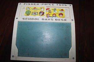 Vintage Fisher Price School Days Desk 176 complete set of word & number cards
