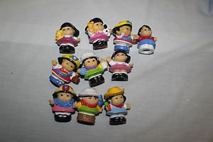 8 Fisher Price Little People Sonia and Asian boy. No duplicates.