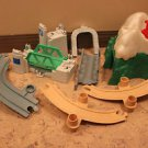 Vintage Fisher Price Flip Track Mountain, bridge, curved ramps, support 8 pieces