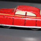 Vintage American Toy Co. metal windup car. No key. Red, yellow striping.