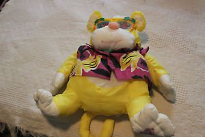Vintage Fisher Price Puffalump yellow Wild Things yellow monkey w. rhino glasses