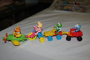 Complete set of four 1990 McDonald's happy meal Muppet Babies. VGC.