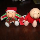 Vintage Ziggy dolls, Christmas, red suit I Love You.