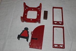 Playmobil parts Rock Castle 3269. Roof, door frames, bench, throne, roof frame,