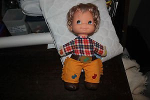 Mattel 1974 Bucky Musical toy doll, cowboy. Clean.