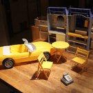 Barbie Mattel Bakery Cafe, Corvette, 1994. Vintage table, 2 chairs, cash registe