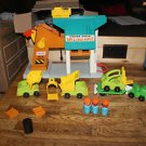 Vintage Fisher Price Little People Lift & Load 942 with all attachments and more