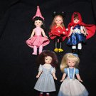 5 Madame Alexander McDonald Happy meal toy dolls.
