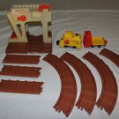 Vintage Fisher Price Little People Lift & Load Railroad 943. LP. Track, engine.