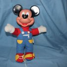 Vintage Mattel Learn to Dress Me Doll Mickey Mouse, zip, button, tie,