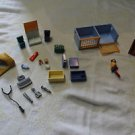 Playmobil lot accessories 4374 Vet Clinic. Cage, recycling bin, binder, bandage